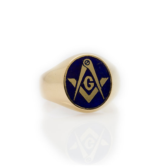 Masonic Ring front view
