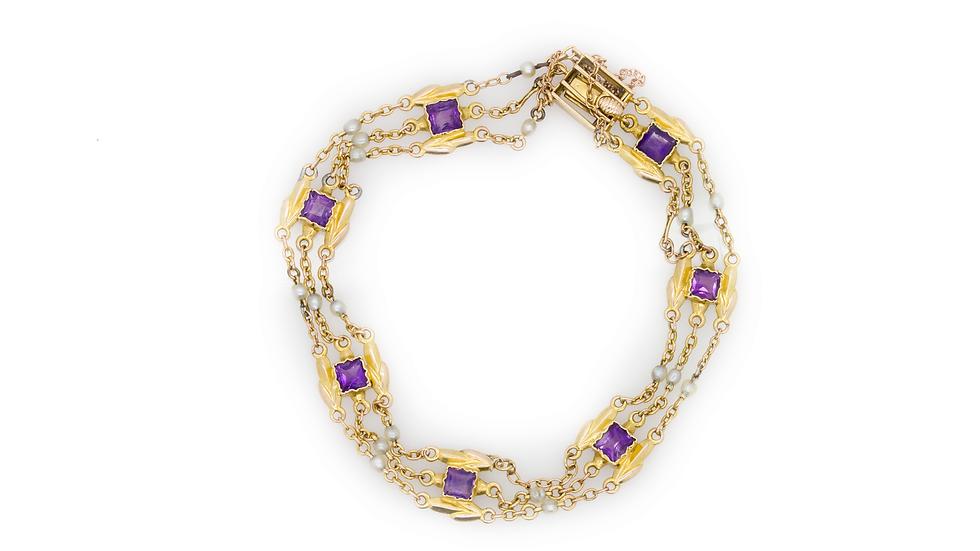 Antique Amethyst Bracelet view 1
