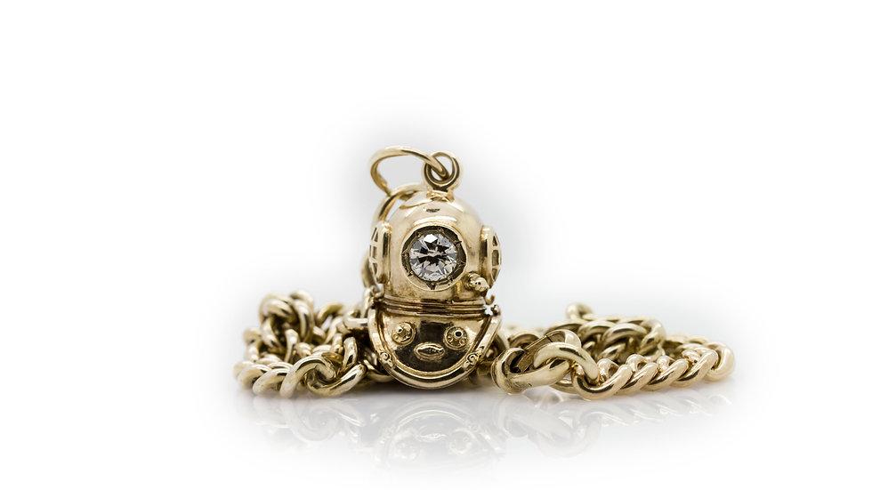 Albert Chain With Divers Diamond Pendant