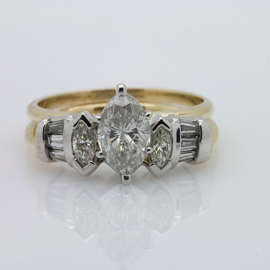 GBP3650 Diamond Marquise Wedding Set