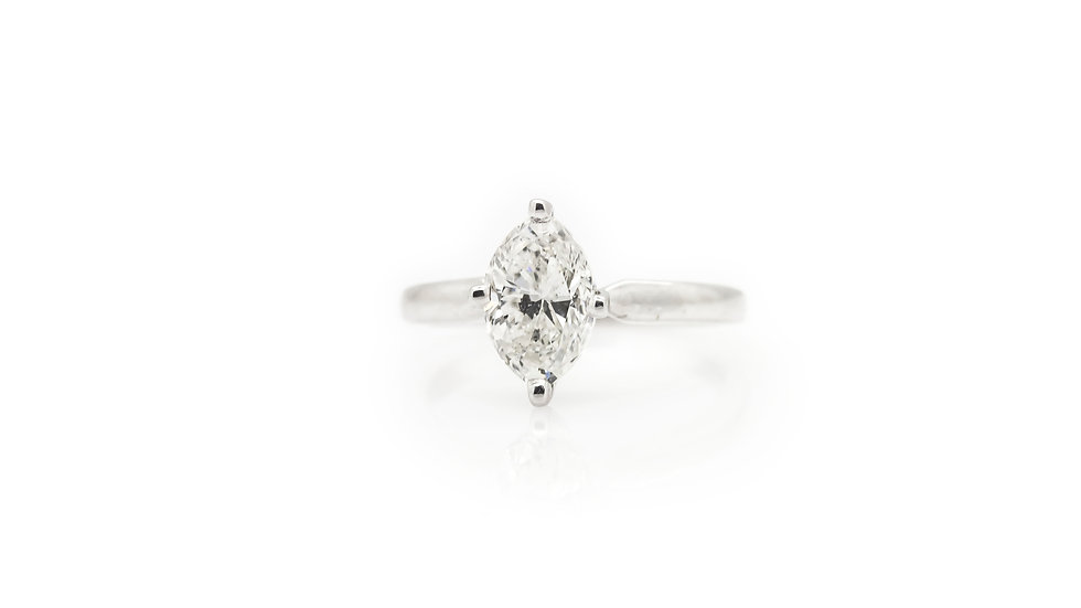 Marquise Diamond Solitaire Ring view 1