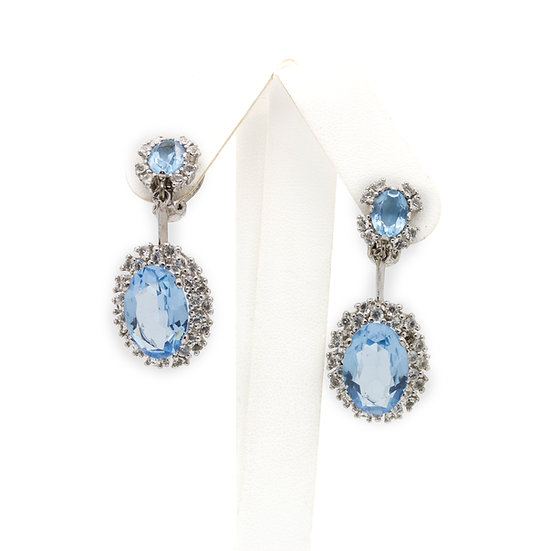 Topaz & White Sapphire Earrings view 1