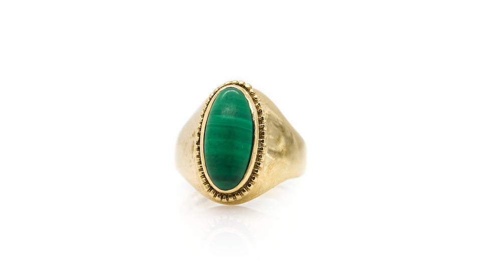 Jade 9ct Gold Ring view 1