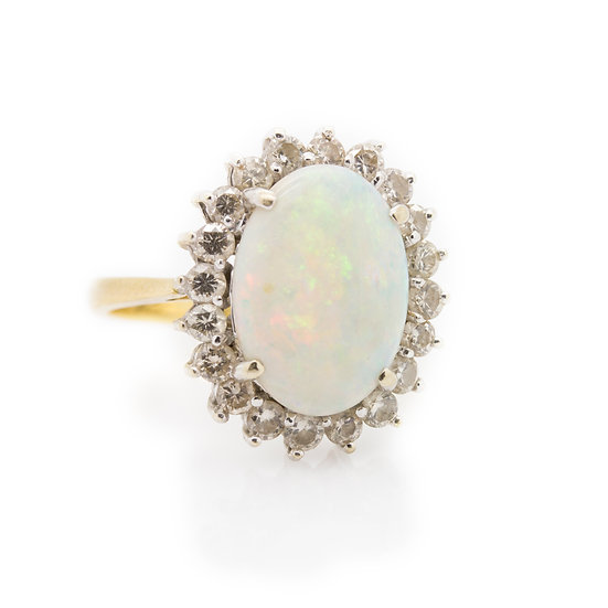 Pearl & Opal Ring