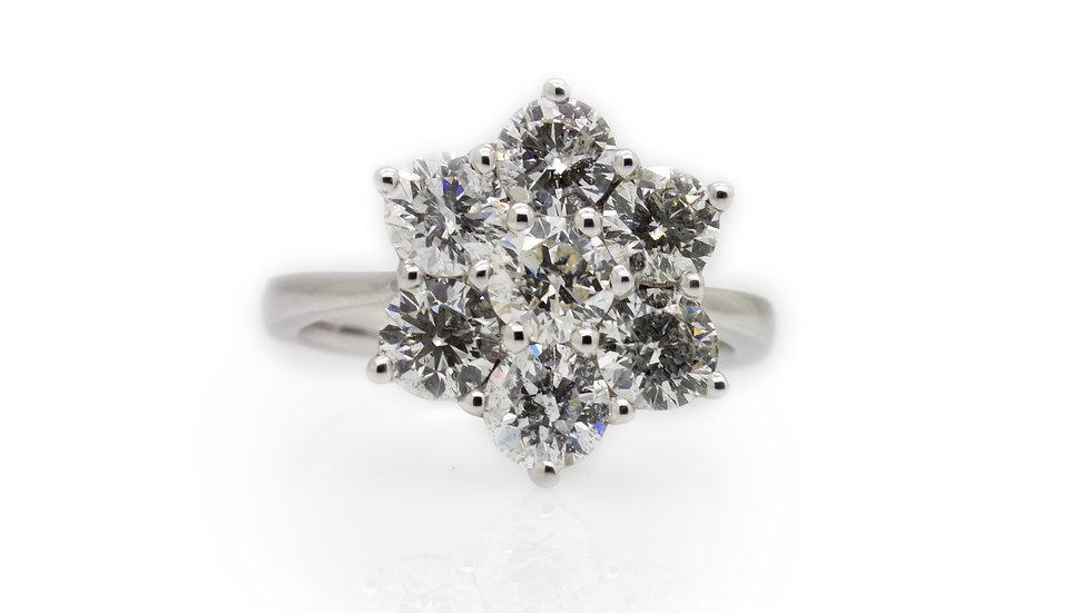Flower Cluster Diamond Ring