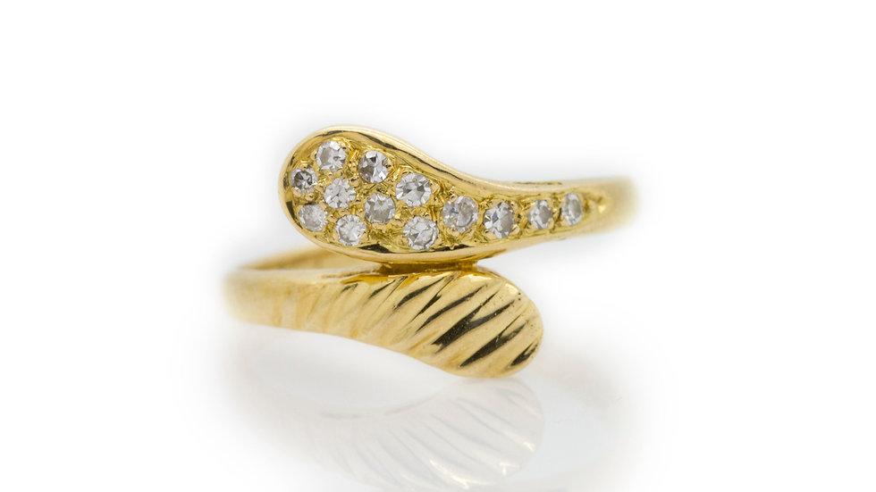 Modern Diamond Fashion Ring front view