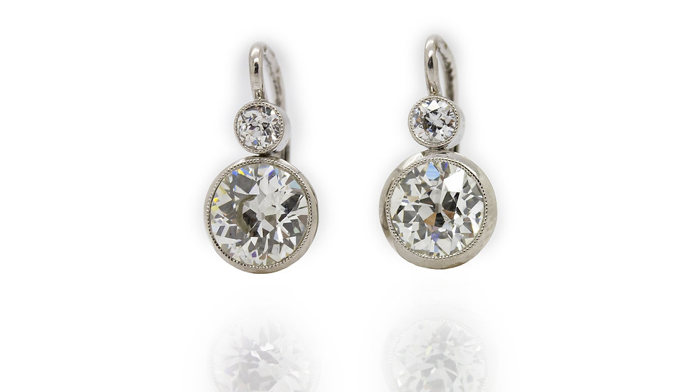 Diamond Solitaire Drop Earrings, Grosvenor Jewellers, Metrocentre, uk