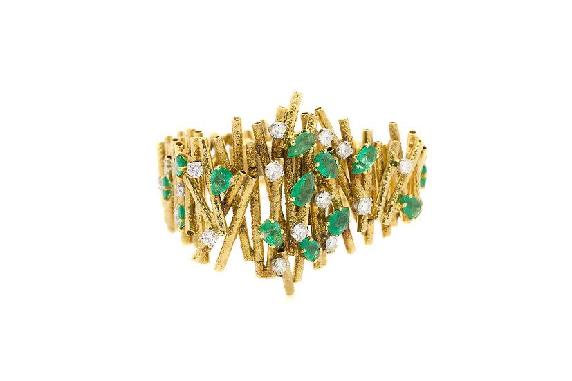 1970's Colombian Emerald Bracelet