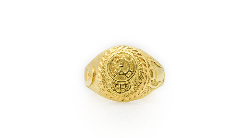 Gent's Football Ring Grosvenor Jewellers View 1