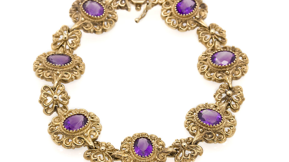 Antique Amethyst Bracelet