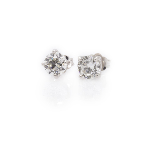 cert earrings tw igi w stud platinum products solitaire ct diamond usa
