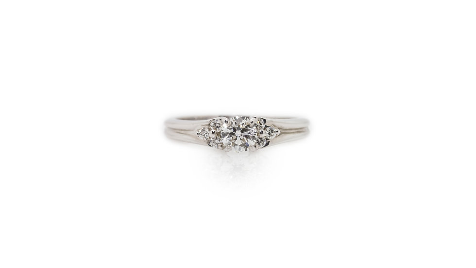 Diamond Solitaire Ring  view 1
