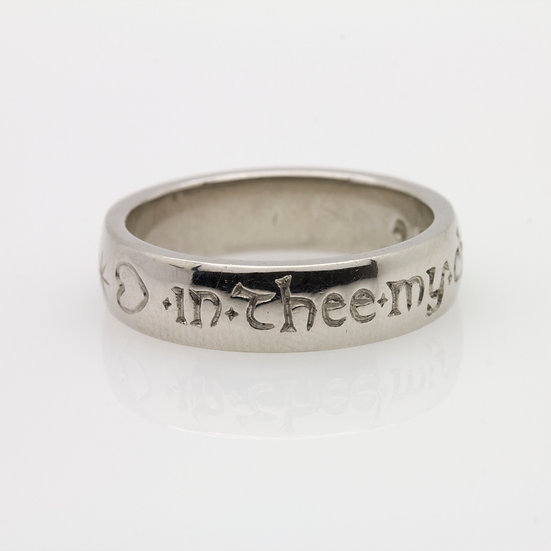 Engraved Platinum Band