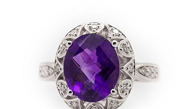 Amethyst Cocktail Ring view 1