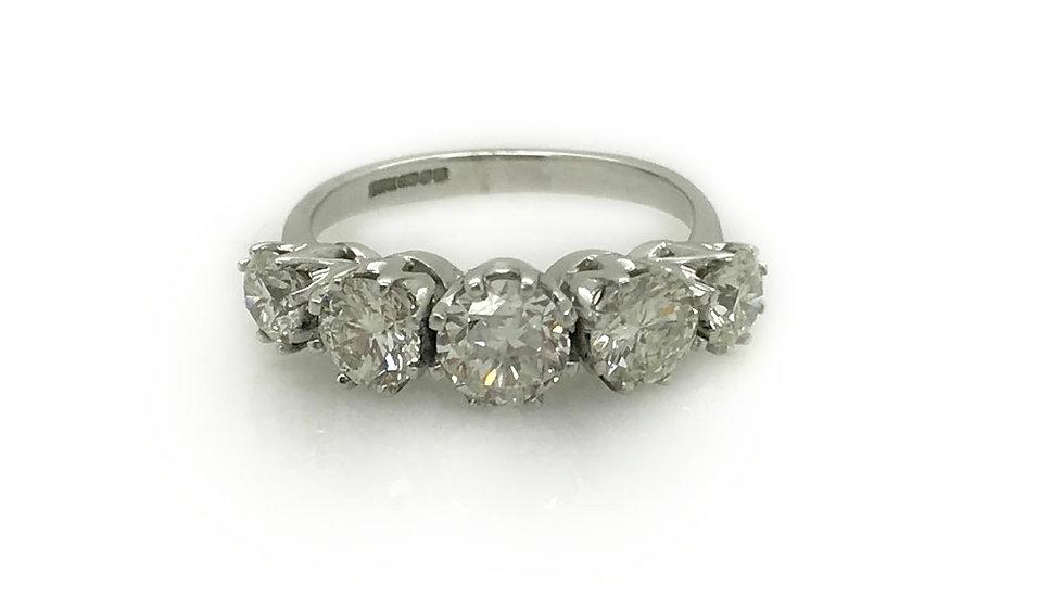 5 Stone Diamond Ring view 1