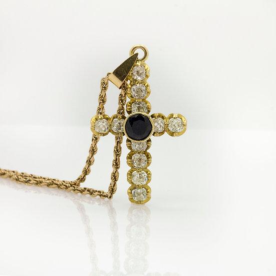 Sapphire & Diamond Cross