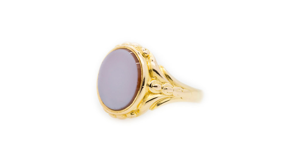 Purple Faced Signet Ring front view