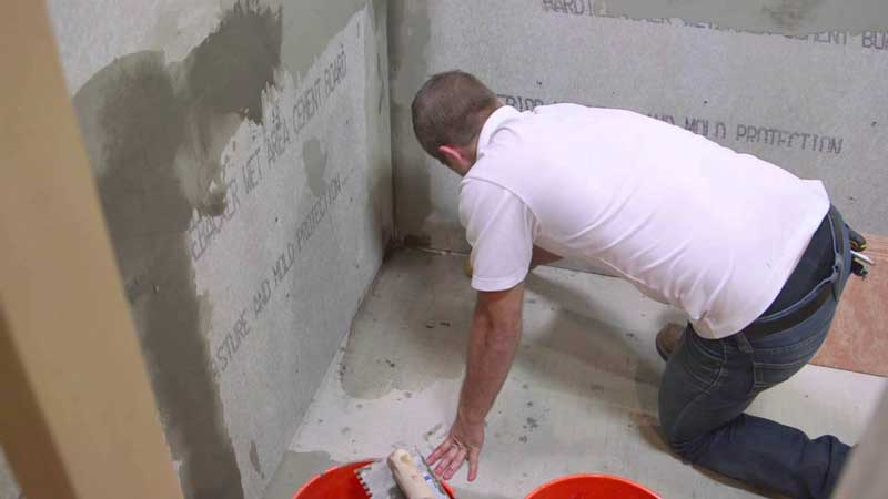 Jack Installs Cement Board Around