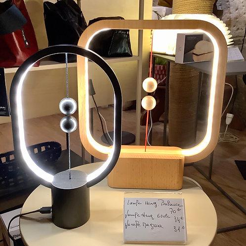 Lampe kubbick Heng carré en bois Et Lampe Kubbick Heng balance gris ovale