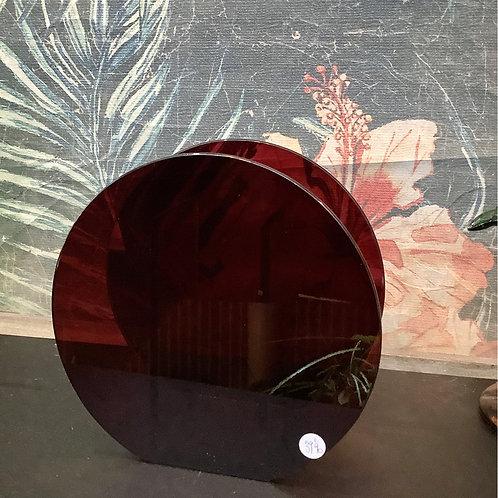 Vase en verre rouge de chez KLEVERING