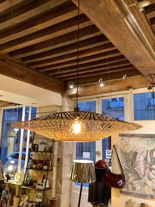 Suspension en bambou dimension 85 cm de diamètre