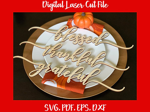 Thanksgiving Place Card Digital Files