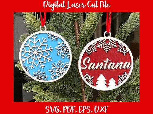 Snowflake Name Ornament Digital File