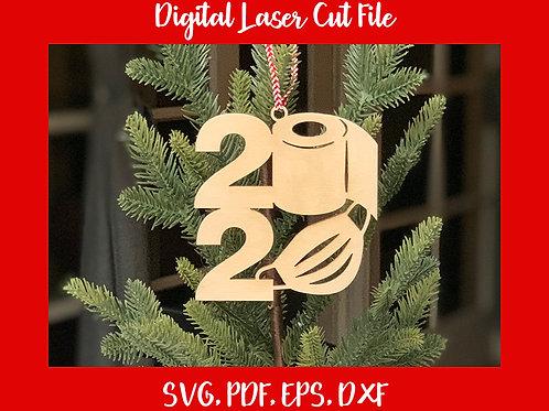 2020 Mask & Toilet Paper Ornament Digital File