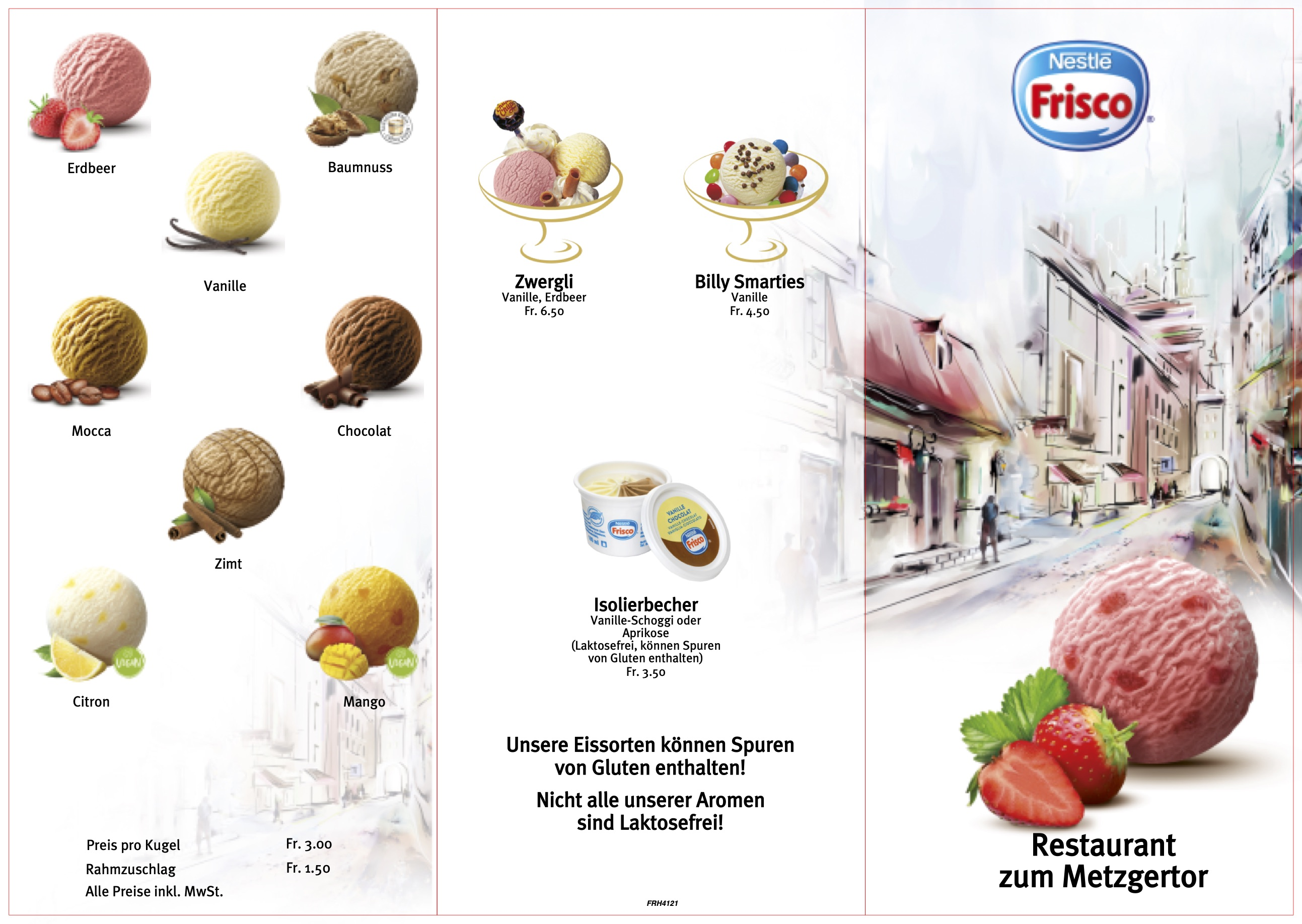 Seite 1 Dessertkarte