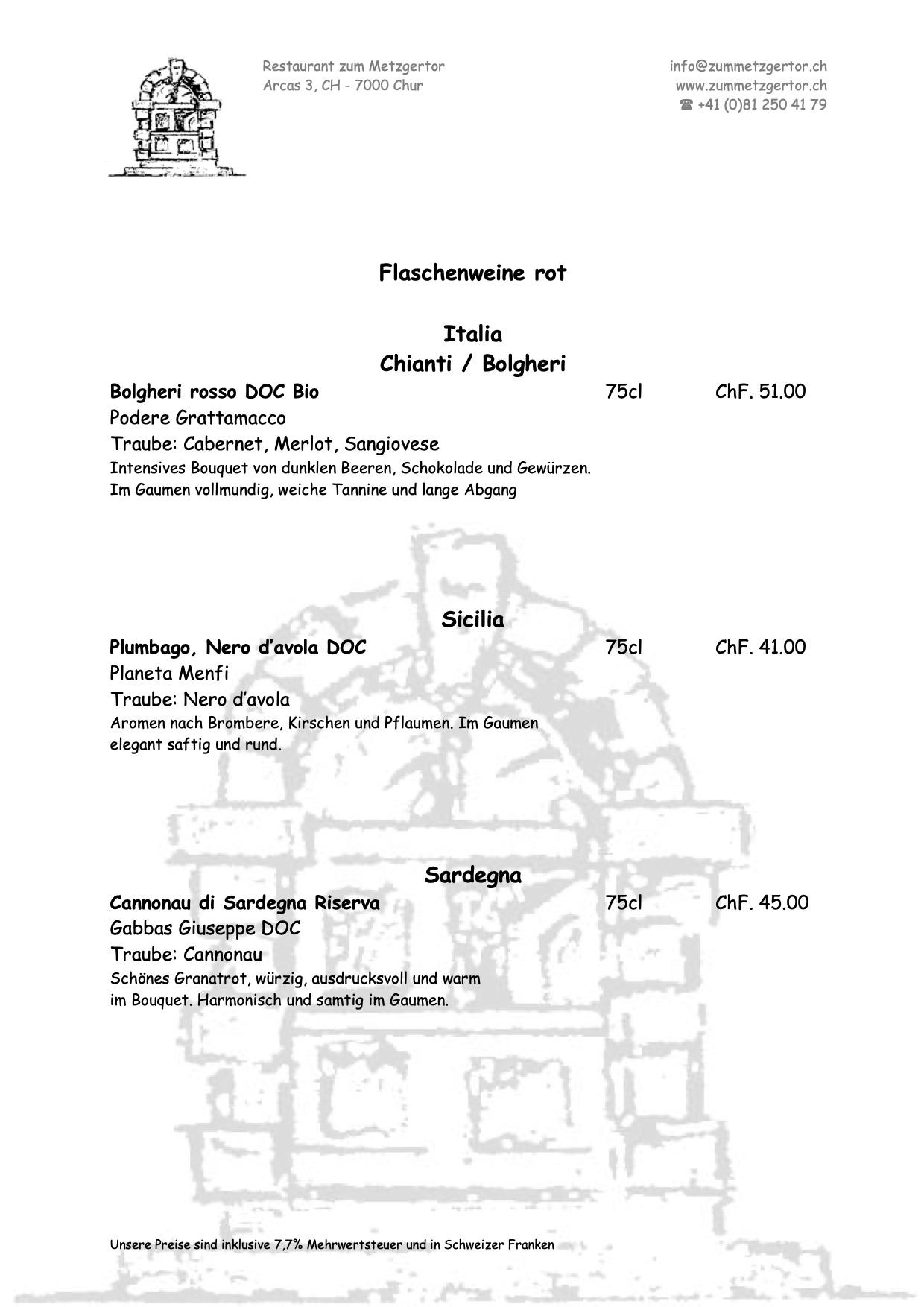 Getränke Karte Seite 09