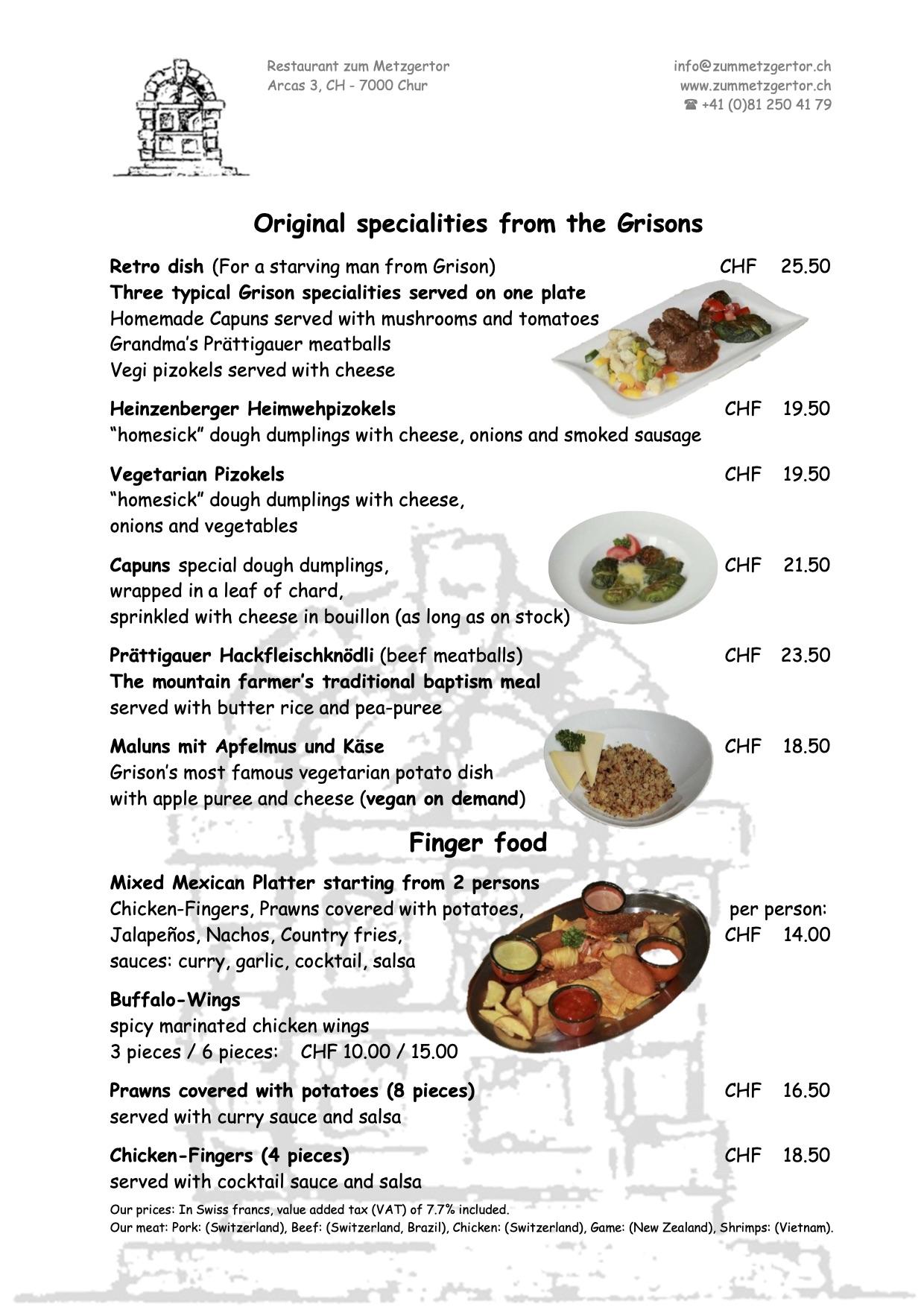 Page 04 Diner Menu