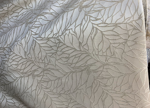 Metallic Gray Branch Design With Satin Background Double Width