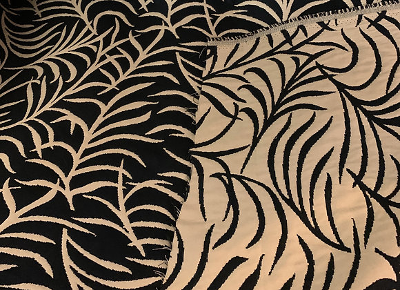 Black and Beige Double-Sided Branch Design
