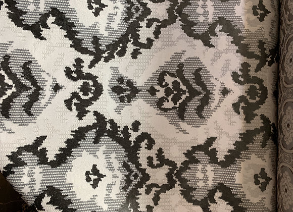 Two-Tone Damasque Design Upholstery