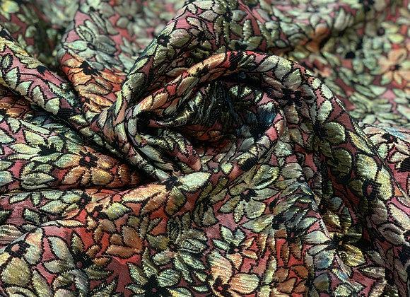 Multicolor Metallic Floral Italian Brocade