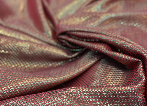 Metallic Red Dope Dyed Yarn Brocade