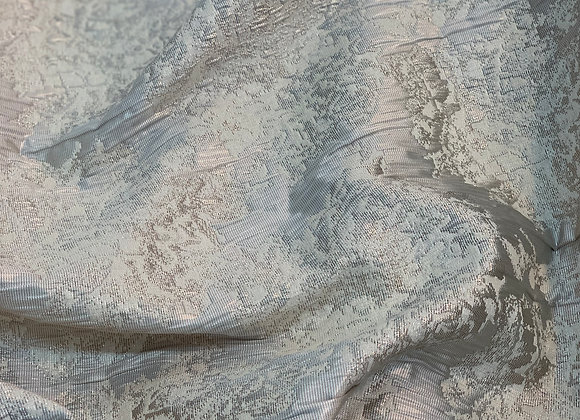 Metallic Taupe Crushed Brocade