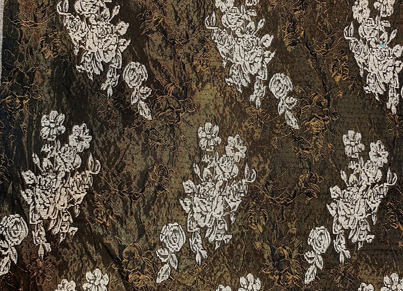 Metallic Bronze Crushed Italian Brocade