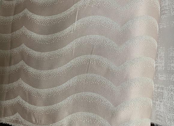 Satin Blush with Metallic White Design Double Width