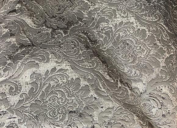 Gray Damasque Design Upholstery