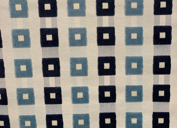 Gray and Blue Checkered Design Heavy Upholstery