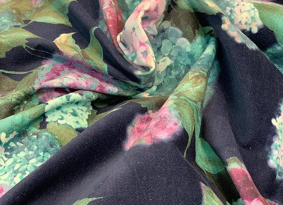 Multicolor Floral Corduroy Cotton