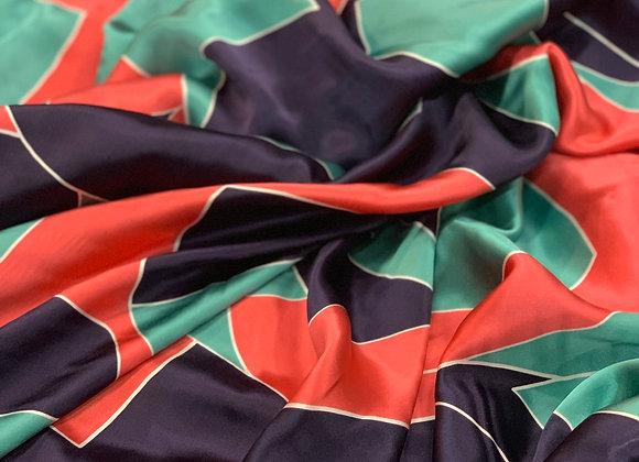 Multicolor Contemporary Design Silk Charmeuse