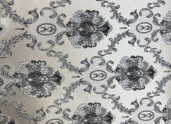 Platinum Satin Background With Damasque Design