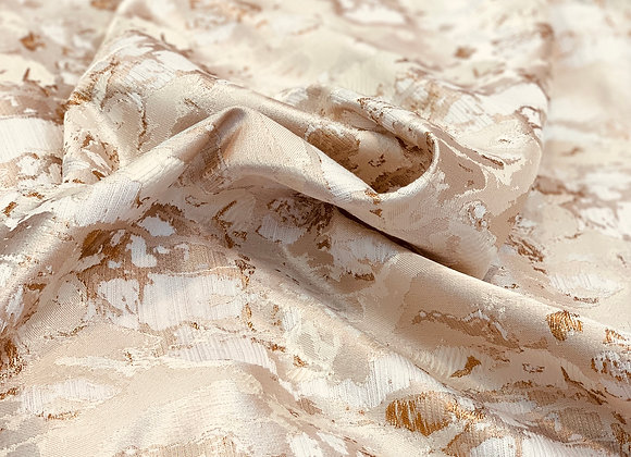 Beige Burnout Brocade