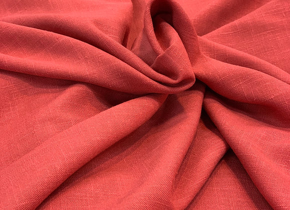 Coral Pink Italian Linen