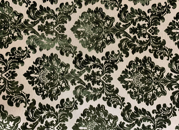 Beige and Green Damasque Design Upholstery