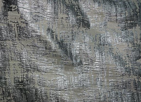 Metallic Silver Jacquard Double Width