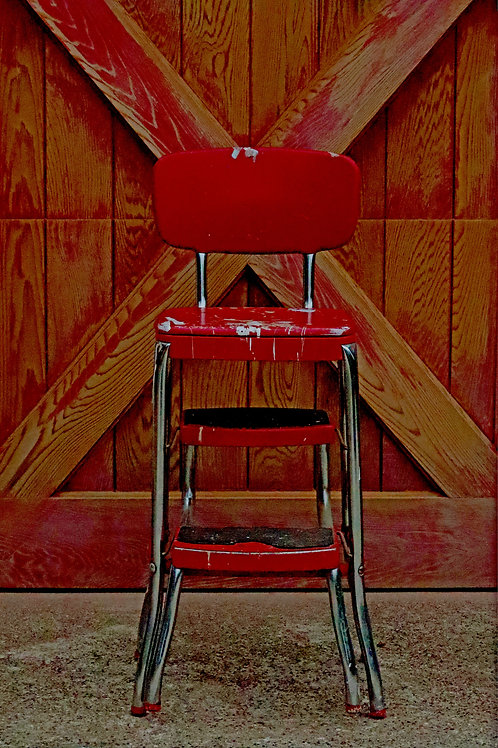 The Red Chair ( Framed 5x7 print)