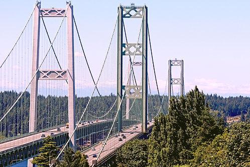 Tacoma, WA Narrow Bridge   ( Framed 11x14 Print)